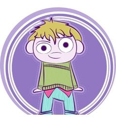 happy little boy vector image vector image