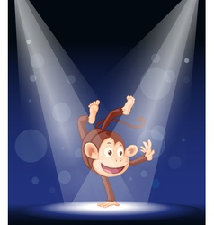 Monkey stage performance vector
