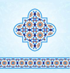 moroccan mosaic design elements vector image