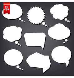 Speech Bubble Drawn With Chalk Set vector image vector image