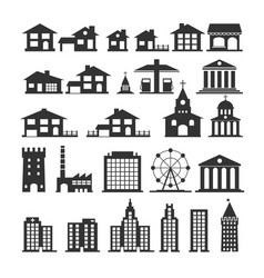 urban and government silhouettes of buildings vector image