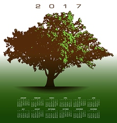 A large glorious old oak tree 2017 calendar vector