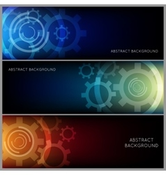 Abstract Industrial Background Set vector image vector image