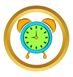 Alarm clock icon cartoon style vector