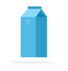 Blue paper bag milk vector
