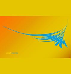 blue splash dynamic waves element for design vector image