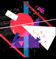 bright poster unusual abstract shapes vector image