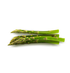 Bunch of raw garden asparagus isolated on white vector