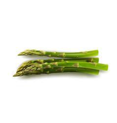 Bunch raw garden asparagus isolated on white vector