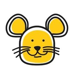 Cartoon animal head icon Mouse face avatar vector