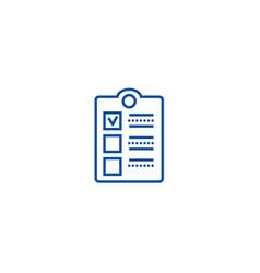 check clipboard line icon concept check clipboard vector image