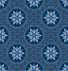 Chinese japanese seamless pattern vector