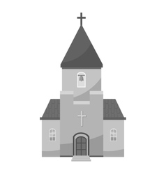 Church icon gray monochrome style vector