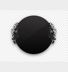 Circle black explosion black banner vector