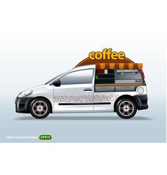 coffee maker vehicle-van template editable layout vector image
