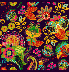 colorful seamless pattern hand drawn vector image