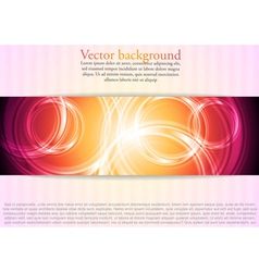 Colourful business template with circles vector image vector image
