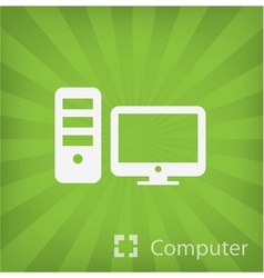 Computer icon in minimal style vector image