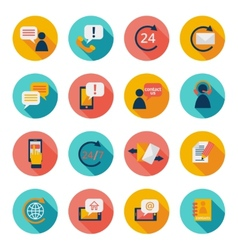 Contuct us icons vector