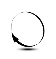 curved arrow icon isolated on white background vector image