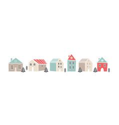 cute sbanner with houses in scandinavian nordic vector image