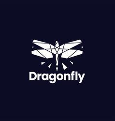 Dragonfly technology geometric polygonal logo icon vector
