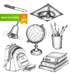 Education school set vector