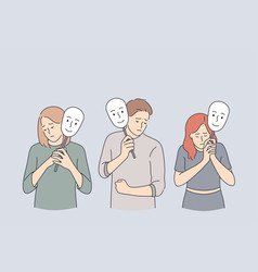 Emotion personality psychology disguise concept vector