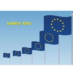 EU flags vector image