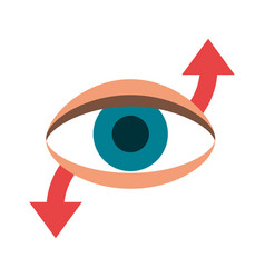 eye with arrow indicating movement icon image vector image