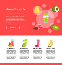 flat smoothie elements landing page vector image