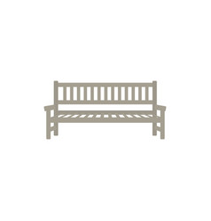 flat street park bench icon vector image