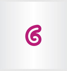 g letter or number 6 logo sign vector image