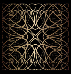 gold lines abstract pattern vector image