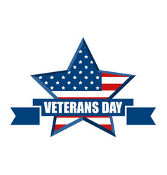 happy veterans day 11th of november honoring all vector image