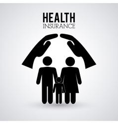 Human insurance design vector
