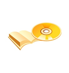 Icon cd and book vector