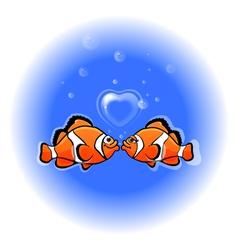 Love funny fish vector