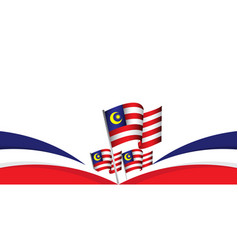 Malaysia independence day template design vector