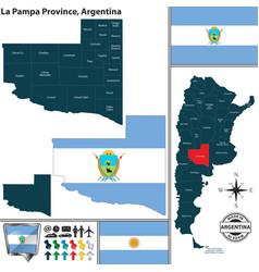 map la pampa province argentina vector image
