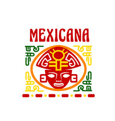 Mexican fast food restaurant emblem design vector