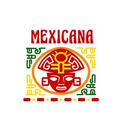 mexican fast food restaurant emblem design vector image