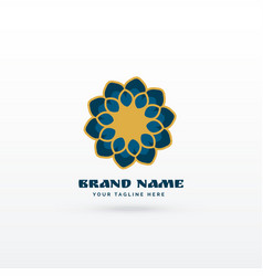 Modern islamic flower style pattern logo concept vector