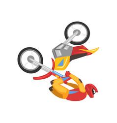 motorcyclist on motorbike sportsman performing vector image