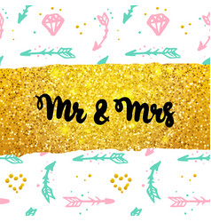 mr and mrs postcard design vector image