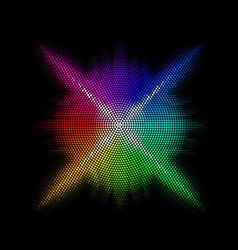 Multicolored mosaic vector