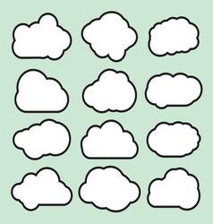 Oblaci prosti lineart1 resize vector image