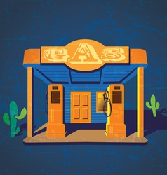 old gas stations vector image
