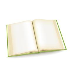 Open green book vector image