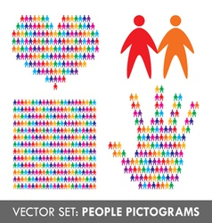 People pictograms vector